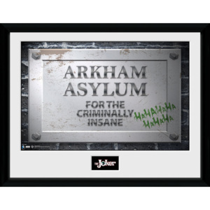 Obraz na zeď - Batman Comic - Arkham Asylum Sign