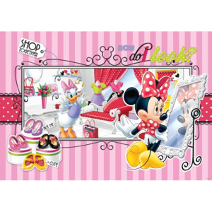 Fototapeta, Tapeta Disney Minnie Mouse Daisy Duck, (104 x 70.5 cm)