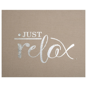 Zdobený látkový obraz 101545, Just Relax Embellished Fabric Canvas, Wall Art, Graham Brown