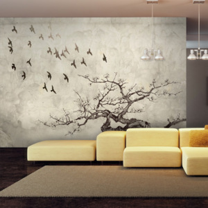 Fototapeta - Flock of birds - 200x154
