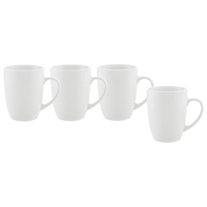 MÖMAX modern living Hrnek Na Kávu 4 Ks Set, Billy -top- bílá 10,3 cm
