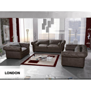 Set 3ks Chesterfield London ASKLOMSET, mikroplyš