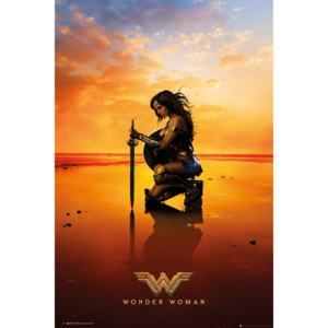 Plakát, Obraz - Wonder Woman - Kneel, (61 x 91,5 cm)