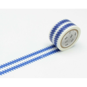 MT MASKING TAPE Páska ZIGZAG border/blue, Vemzu