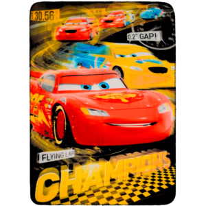 STAMION Fleecová / fleece deka Cars Champions 100x140