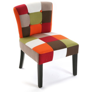 Židle Versa Red Patchwork