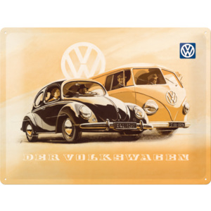 Nostalgic Art Plechová cedule – VW Kafer and Bus 30x40 cm
