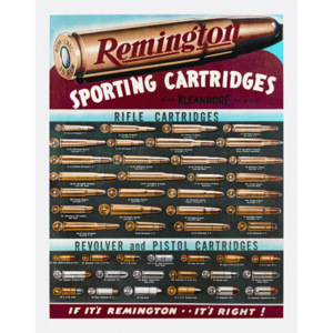 Plechová cedule: Remington (Sporting Cartridge) - 30x40 cm