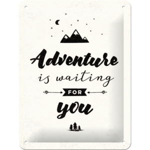 Nostalgic Art Plechová cedule - Adventure is Waiting for You 20x15 cm