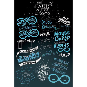 Plakát - The Fault in our Stars (Typografie)