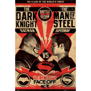 Plakát - Batman vs. Superman (The Ultimate Face Off)