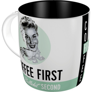 Nostalgic Art Hrnek - Coffee First, Bullshit Second 330 ml