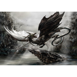 C10852P4 Fototapeta: Black Dragon - 184x254 cm