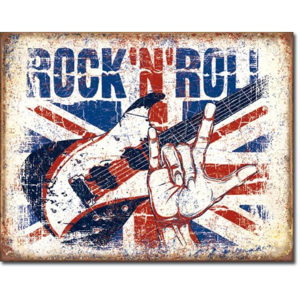 Plechová cedule: Rock and Roll (British)