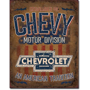 Plechová cedule: Chevy Motor Division