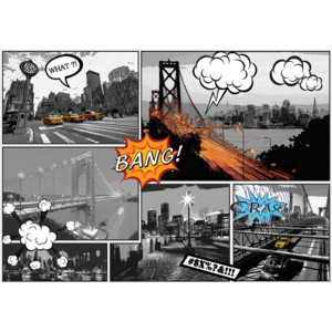 C10676P4 Fototapeta: New York (Comics) - 184x254 cm