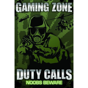 Plakát - Gaming Zone Duty Calls
