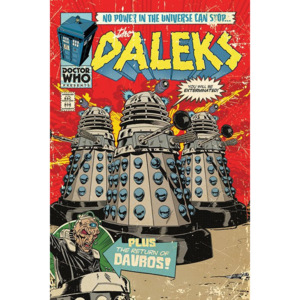 Plakát - Doctor Who (Daleks - Comics)