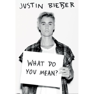 Plakát - Justin Bieber (What Do You Mean?)
