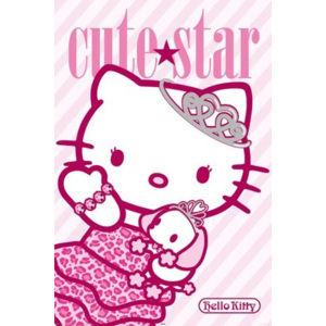 Plakát - Hello Kitty (Cute star)