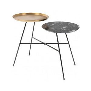 Side table Indy black/gold Zuiver 2300111
