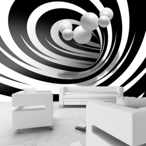 Bimago Fototapeta - Twisted In Black & White 150x105 cm