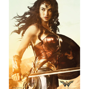 Plakát, Obraz - Wonder Woman - Sword, (40 x 50 cm)