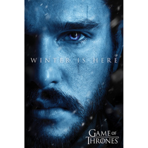 Plakát, Obraz - Hra o Trůny (Game of Thrones): Winter Is Here - Jon, (61 x 91,5 cm)
