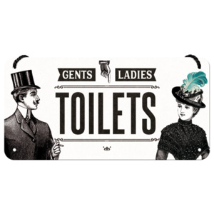 Nostalgic Art Závěsná cedule: Gents and Ladies Toilets - 10x20 cm