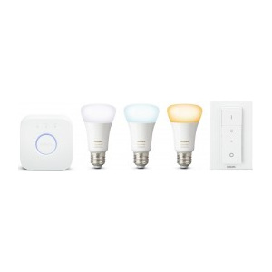 Hue Starter Kit White Ambiance 3xE27 A19 9,5W + Bridge + Dimm Switch 8718696728925 - Philips