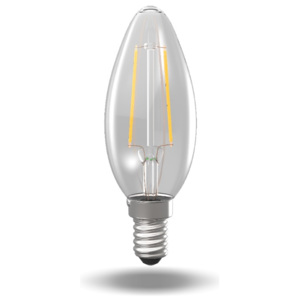 Filament LED Candle 2W/E14/2700K retro LED žárovka