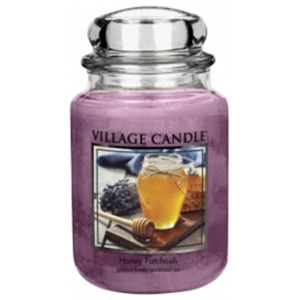 Village Candle Vonná svíčka ve skle, Med a pačuli - Honey Patchouli, 26oz