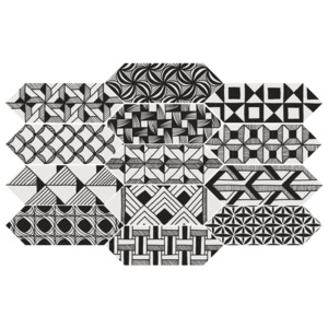 KITE Patchwork Kite B&W 10x30 (EQ-10D) 22997 (Mix dekorů v balení 40 ks)
