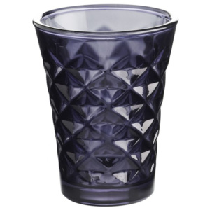 Svícen Facet glass Dark purple 10 cm