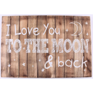 Dřevěná cedule I love you to the moon