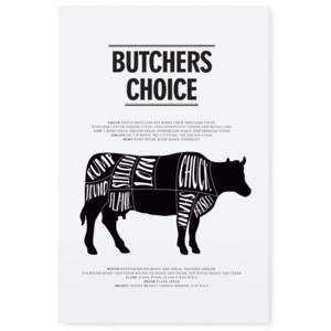 Plakát Butchers choice 30x42