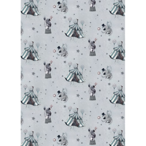 Tapeta Circus Mighetto grey blue