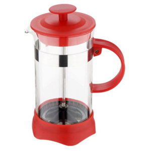 Konvička na čaj a kávu French Press 350 ml červená - Renberg
