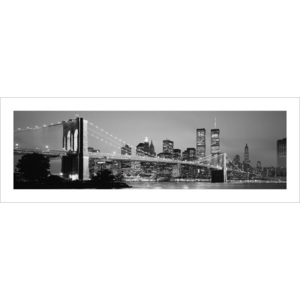 Obraz, Reprodukce - New York - Skyline, (33 x 95 cm)