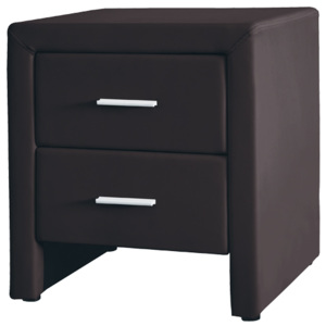 DOREL Bedside table 48x42x55cm PU dark brown