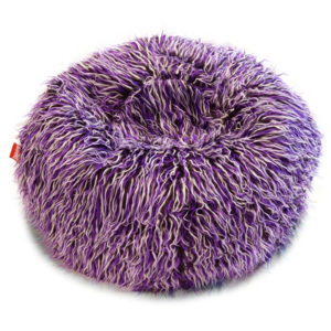 Beanbag sedací pytel Shaggy Multicolor white-black-purple