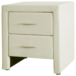 DOREL Bedside table 48x42x55cm PU Cream