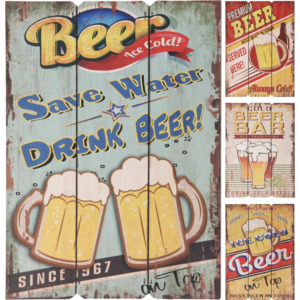Home collection Home collection Tabulky s motivy piva 28x38 cm - Cold Beer Bar