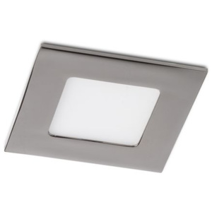 RED - DESIGN RENDL 12187 SLENDER SQ 8 zápustná chrom 230V LED 3W 3000K