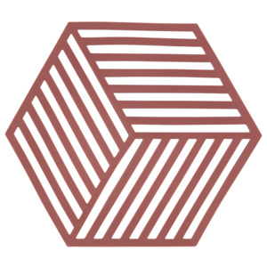ZONE Podložka pod hrnce siena red HEXAGON