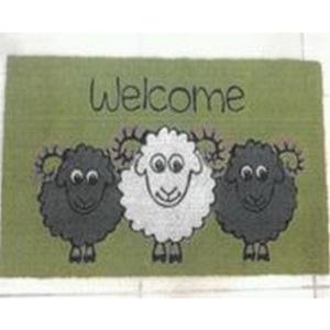 MÖMAX modern living Rohožka Welcome Sheep zelená 40/60 cm