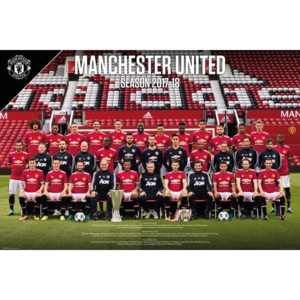 Plakát, Obraz - Manchester United - Team Photo 17-18, (91,5 x 61 cm)
