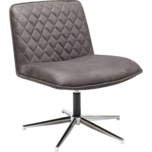 Šedá židle Kare Design Swivel Chair Honk