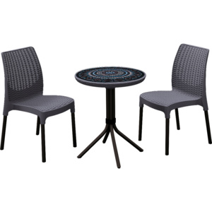 Set Chelsea + Mosaic table - grafit