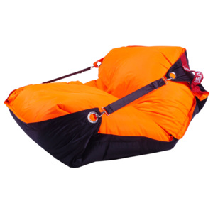 Sedací pytel Duo - fluo orange / black